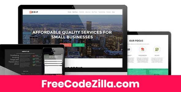 Zerif PRO - Premium One Page WordPress Theme Free Download