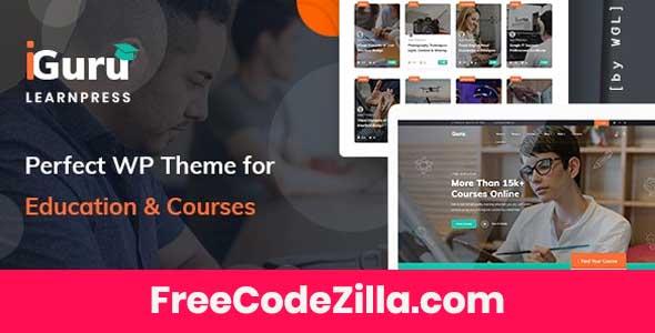 iGuru – Education & Courses WordPress Theme Free Download