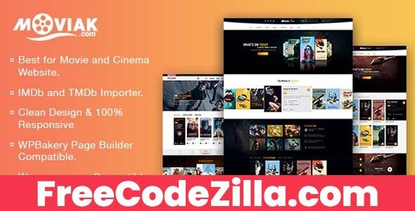 AmyMovie Nulled - Movie and Cinema WordPress Theme