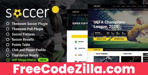 Soccer – Sport WordPress Theme Free Download