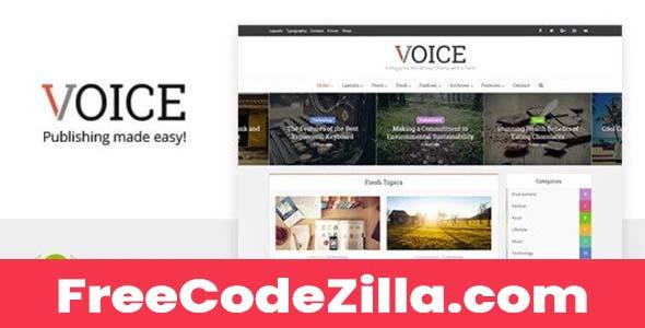 Voice - News Magazine WordPress Theme Free Download