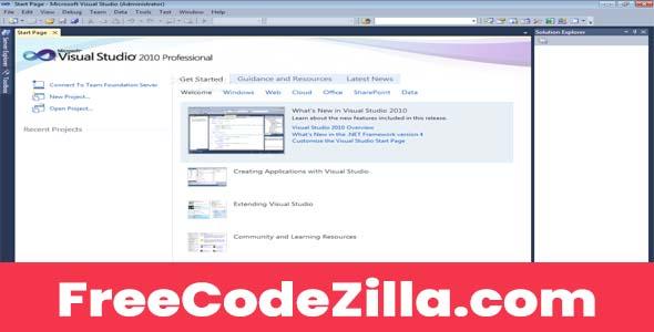Microsoft Visual Studio 2010 Professional Free Download for Windows PC