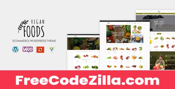 Vegan Food v5.2.23 – Organic Store Woocommerce WordPress Theme
