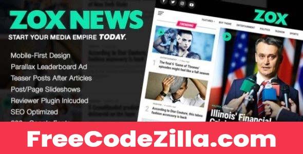 Zox News v3.11.1 – Professional WordPress News & Magazine Theme